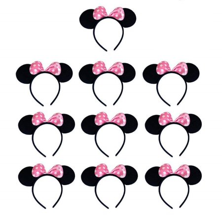 Mickey Mouse Nose Costume (Mickey Mouse Ears Headband Costume Acessory Boys Girls Birthday Party Celebrations (Set of)