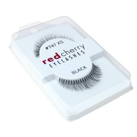 Red Cherry 100% Human Hair False Eye Lashes Fake Eye Lashes #747XS