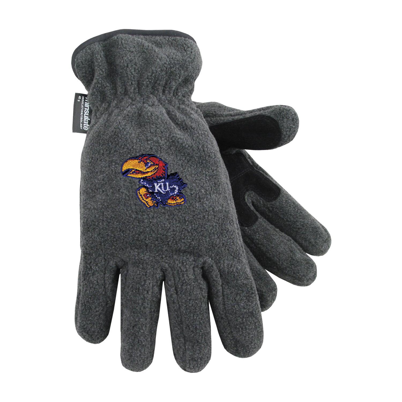 University of Kansas Heavy-Weight Fleece Gloves by