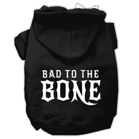 Mirage Pet 62-128 XSBK Bad to the Bone Dog Pet Hoodies, Black - Extra Small 8