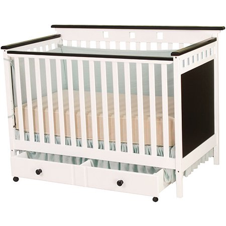 Shermag Bridgeport 4 In 1 Convertible Crib White Walmart Com