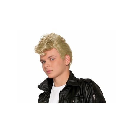 Halloween 50's Greaser Blonde Wig - Party City Blonde Wig