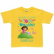 Personalized Dora the Explorer Adventure Awaits Girls' T-Shirt, Yellow