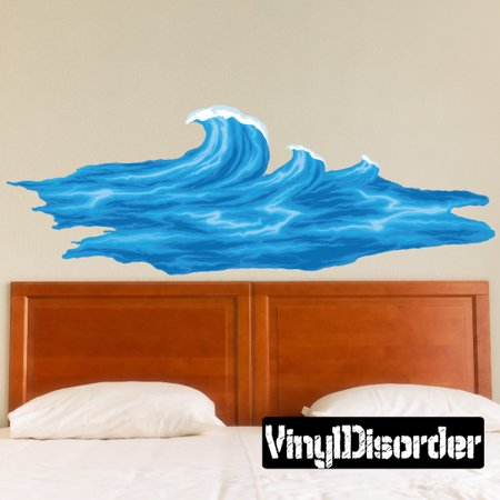 Ocean Decal Set - Ocean Waves Wall Decal - Vinyl Car Sticker - Uscolor008 - 25 Inches