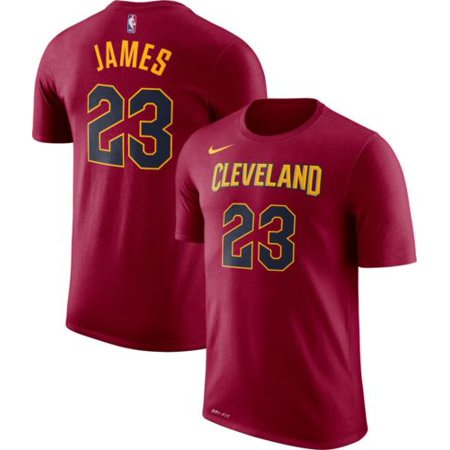 best sneakers 518f7 6c06a NIKE DRY DRI-FIT CLEVELAND CAVALIERS LEBRON JAMES #23 T SHIRT 870766 680 US  SZ M