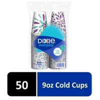 Dixie Everyday 9oz Cold Beverage Paper Cups, 50ct