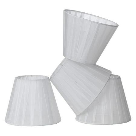 AF Lighting 8528-4S Fulton Chandelier Table Lamp & Floor Lamp Clip-On Shades, 4-Pack