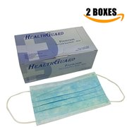 100 PC (2 BX) 3-Ply Blue Commercial Dental Surgical Medical Disposable Earloop Face Masks | FDA Registered & Approved!