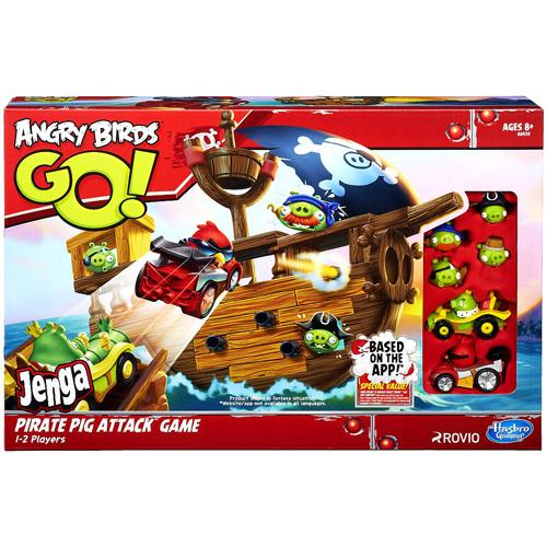 Angry Birds Go! Telepods Jenga Pirate Pig Attack Game