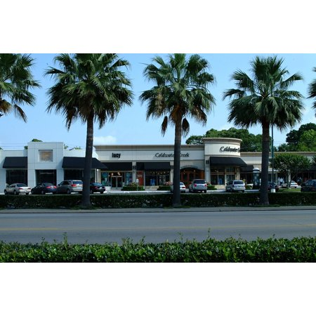Canvas Print Shops Shopping Palm Trees Houston Street Stores Stretched Canvas 10 x 14](Teacher Supply Store Houston)