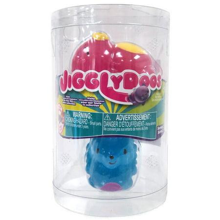 Pink Hedgehog - JigglyDoos Series 2 Pink Bear & Blue Hedgehog Squeeze Toy 2-Pack