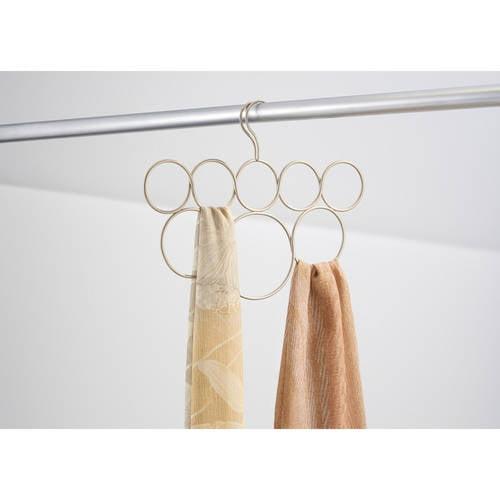 InterDesign Classico No Snag Scarf Hanger, 8 Loops