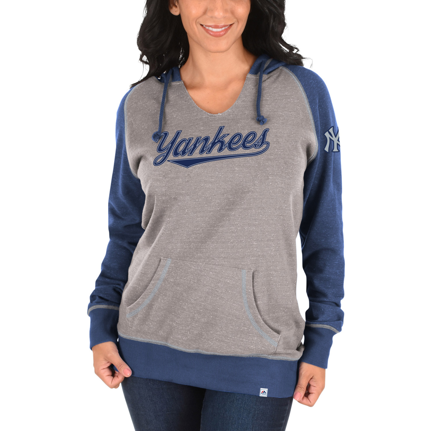 New York Yankees Majestic Women's Absolute Confidence Hoodie - Gray