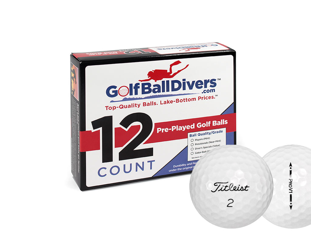 Titleist ProV1 Value (AAA) Grade Recycled (Used) Golf Balls 108 Pack by Golf Ball Divers