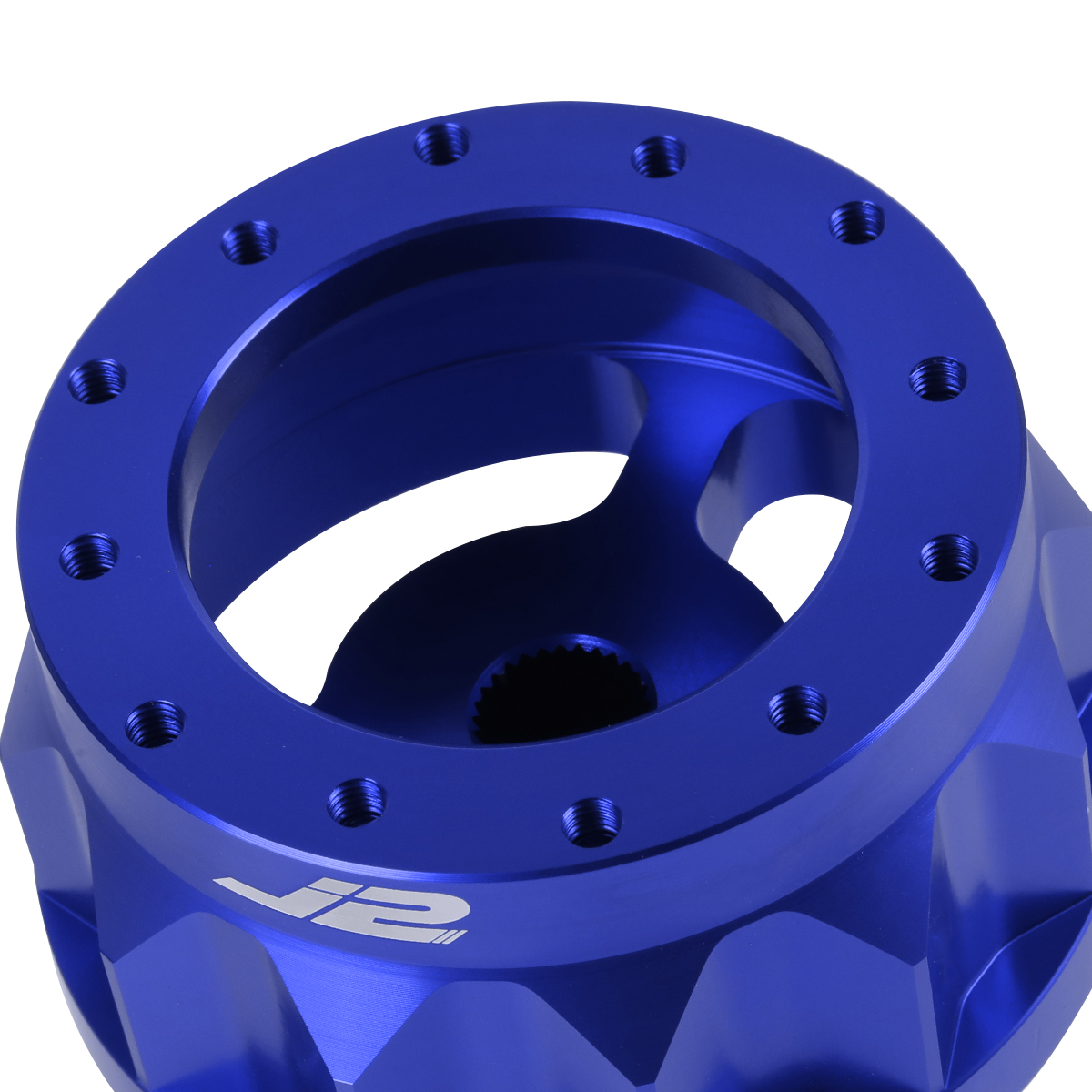 J2 Engineering J2-HUB-OT48-BL 2 6-Bolt Aluminum Steering Wheel Hub Adapter Blue For 87-90 Camry All year Scion