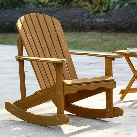 Winsome House Hemlock Adirondack Rocker Adirondack Rocking Chair