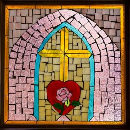 Stained Glass Cross IV Poster Print by Kathy Mahan - Stained Glass Crosses