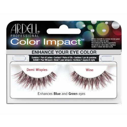 ARDELL Color Impact False Lashes - Wine Demi Wispies