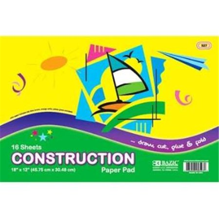 "DDI 310198 Bazic 16 Count 18"" x 12"" Construction Paper Pad Case of 48 - image 1 de 1"