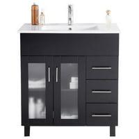 Nova 32 - Espresso Cabinet + Ceramic Basin Counter