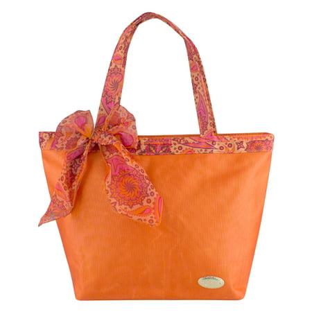 Jacki Design Summer Bliss Beach Tote Bag, Orange (Orange Tote)