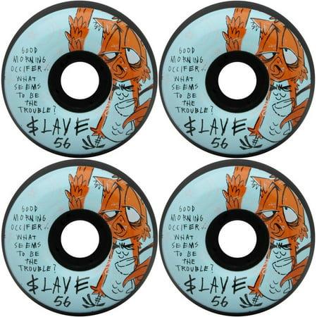 SLAVE Skateboard Wheels NITE OWL BLACK 56MM 99A (Slave Board)
