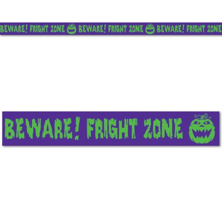 (Pack of 12) Halloween Party Beware! Fright Zone' Party Tape