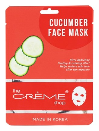 Avocado Face Sheet Mask - 1 Count by The Creme Shop (pack of 3) Kojic Acid Soap. Kojie San Whitening Soap with Small Toner