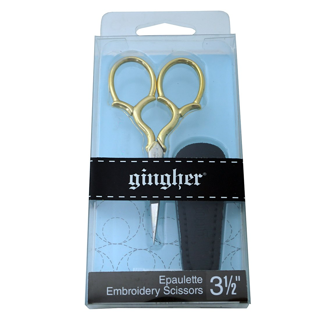Gingher 3 1/2in Goldhandle Epaulette Embroidery Scissors