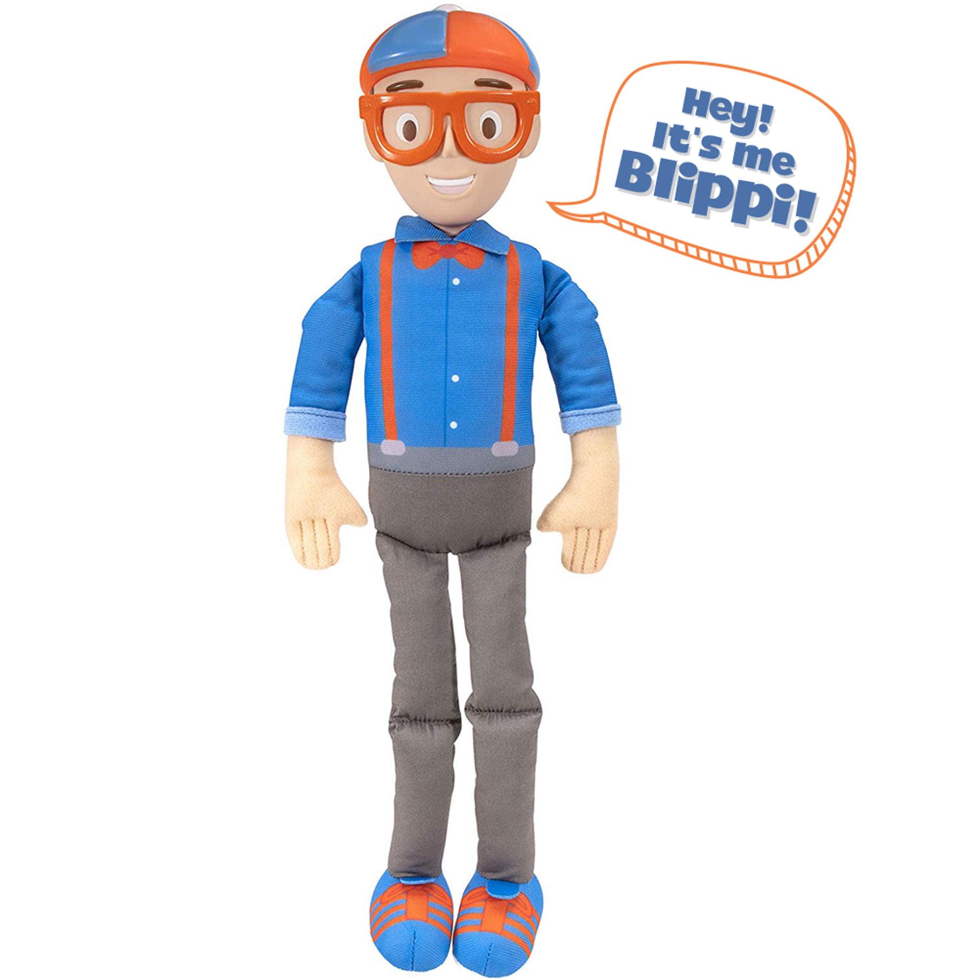 BLIPPI-MY BUDDY BLIPPI Parlant Jouet Doux En Peluche 40 cm poupée 15 sons phrases New