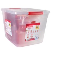 Rubbermaid TakeAlongs Containter Variety Pack - 62 Piece Set Including Lids