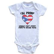I'm Proof Mommy Can't Resist Puerto Rican Guys Puerto Rico Flag Heart Baby Onesie, 0-3 Months White