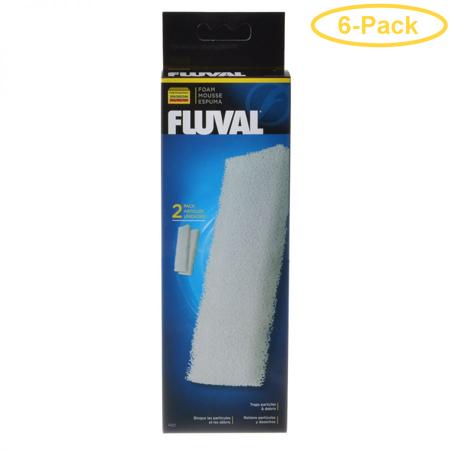 Fluval Filter Foam Block For Fluval Canister Filters 205 & 305 (2 Pack) - Pack of 6