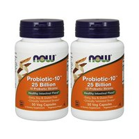 NOW Foods - Probiotic-10 25 Billion 50 Veg Capsules - Pack of 2