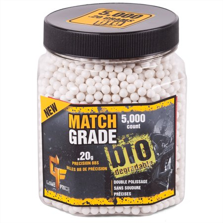 Game Face By Crosman  Biodegradable Pro Grade  20 Gram Airsoft Ammo  5 000Ct