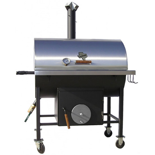 Pitts and Spitts 24'' x 36'' Combo Smoker & Grill by