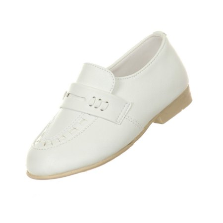 Rain Kids Little Boys White Front Detailing Quality Dress Shoes 5-10 Toddler