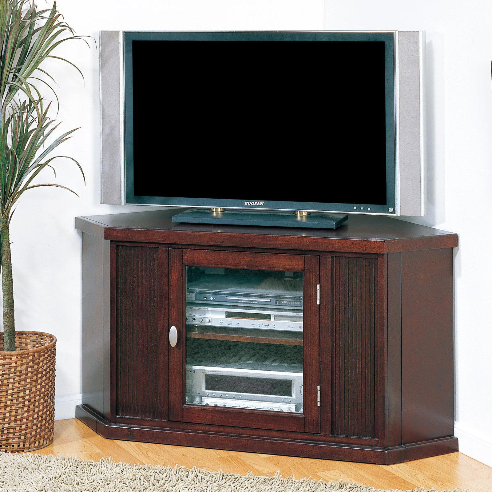 Leick 86285 Riley Holliday Espresso 46 in. Corner TV Console by Leick Furniture