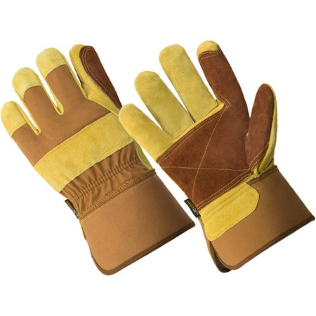LP4330-M, Men's Premium Cow Split Double Leather Palm Work (Leather Chore Glove)