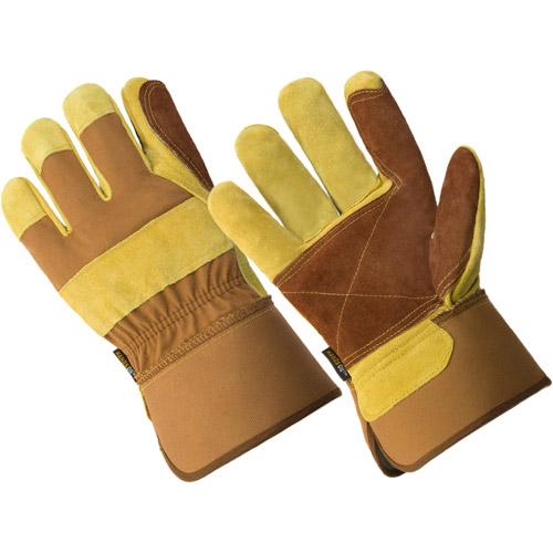 LP4330-M, Men's Premium Cow Split Double Leather Palm Work Glove
