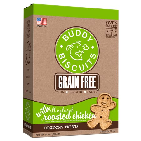 Cloud Star Buddy Biscuits Grain-Free Roasted Chicken Dog Treats, 14