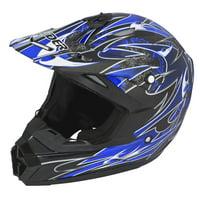 Adult Raider Wildfire Helmet MX / ATV - Matte Black, Red, Blue or Silver - DOT