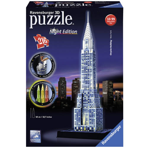 3D Puzzle: Chrysler Building: Night Edition Puzzle, 216 Pieces by Ravensburger USA Inc