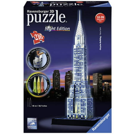 3D Puzzle: Chrysler Building: Night Edition Puzzle, 216 Pieces
