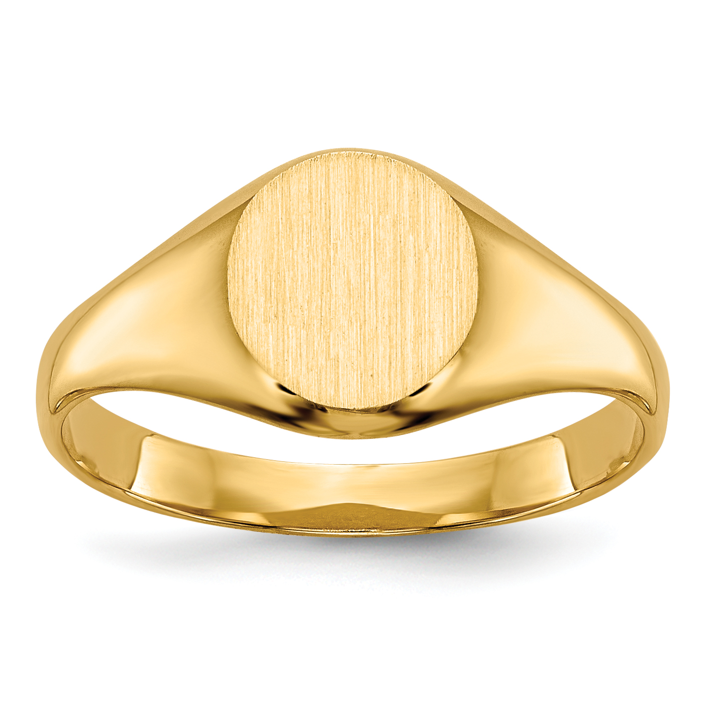 14k Yellow Gold Engravable Childs Signet Ring