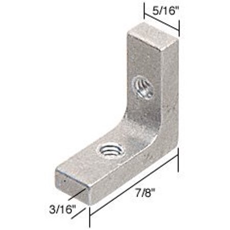 "CRL 5/16"" Tub Enclosure and Sliding Shower Door Corner Brackets - Package, Pre-Drilled and Tapped. Comes in Package of 4 Corner Brackets and 8.., By C.R. Laurence"