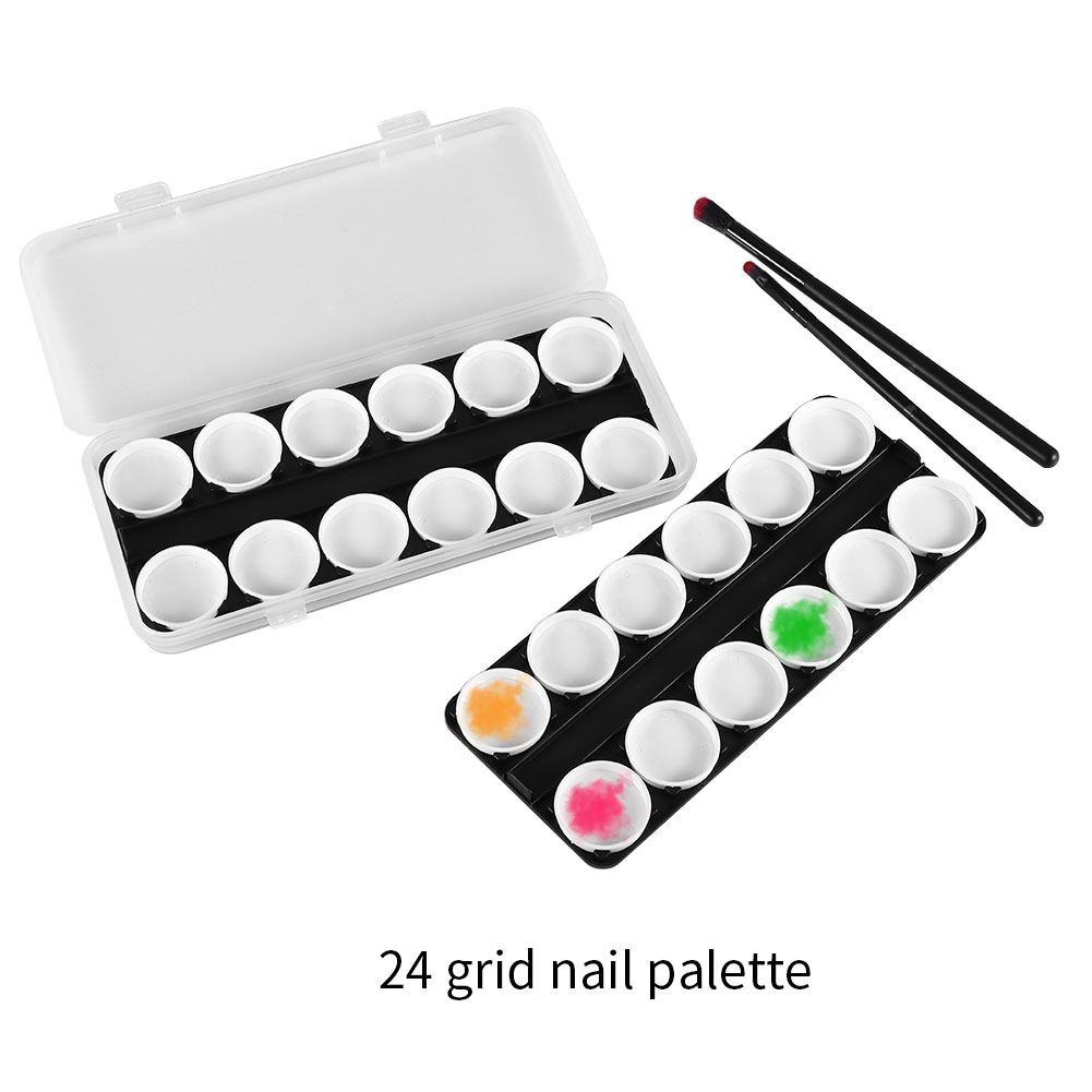 Nail Art Polish Watercolor Color Dish Palette Paniting Tool Accessory With Box, Nail Art Accessories Palette,Painting Palette