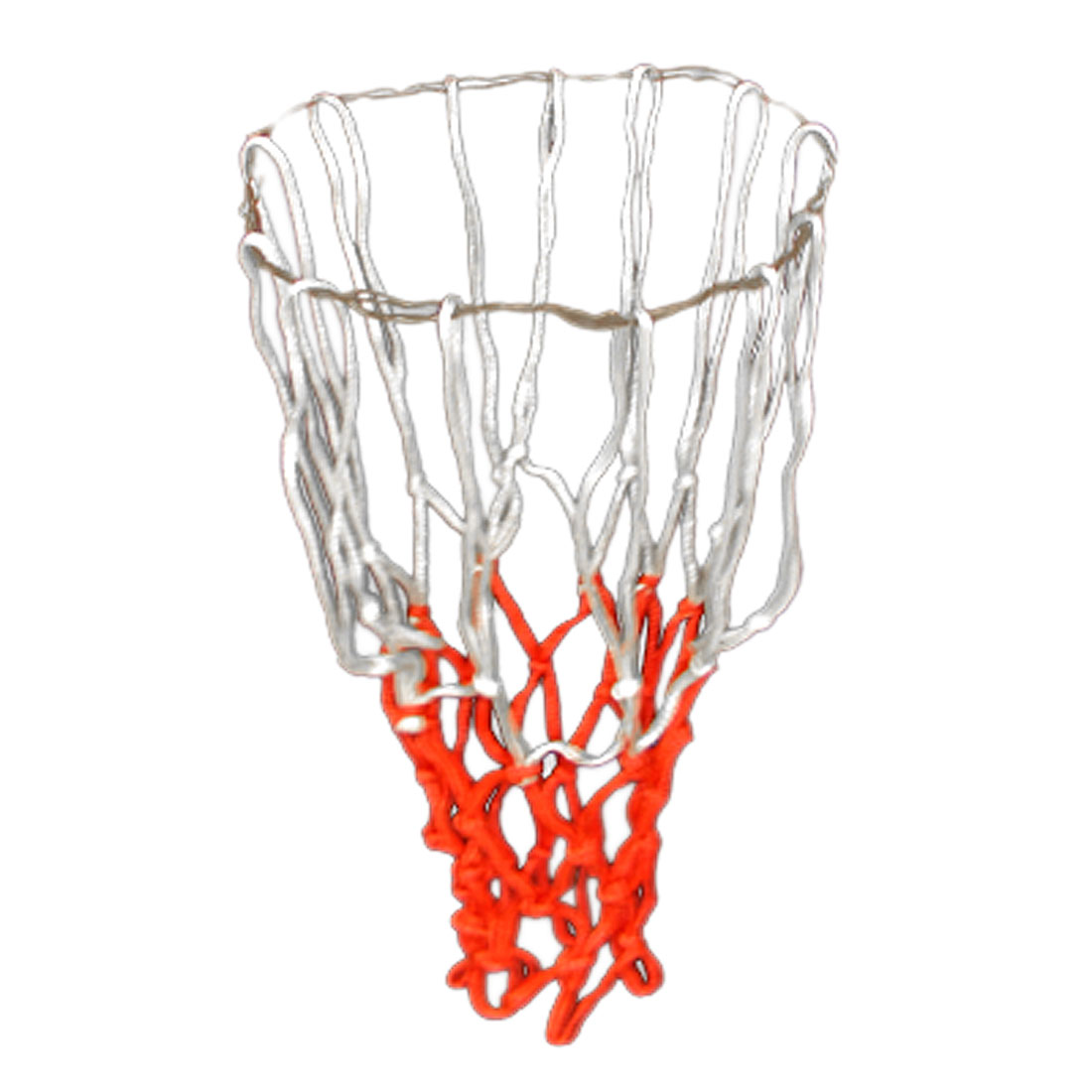 "Unique Bargains 2 Pcs 19"" Long Braided Nylon Training Match Basketball Nets White Red"