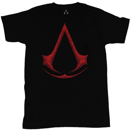 Assassins's Creed Mens T-Shirt - Giant Red Assasin's Creed Logo - Assassin Creed Suits
