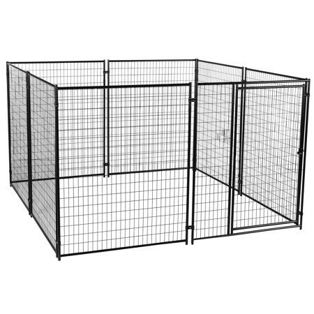 Lucky Dog Large Modular Welded Wire Indoor Outdoor Dog Kennel, 10 x 10 x 6 -